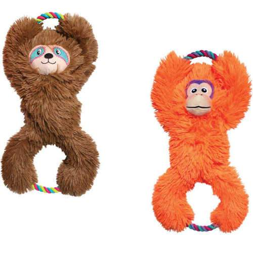 KONG Tuggz Dog Tug Toy Plush Fluffy Cute Dog Toys - The Pet Vault