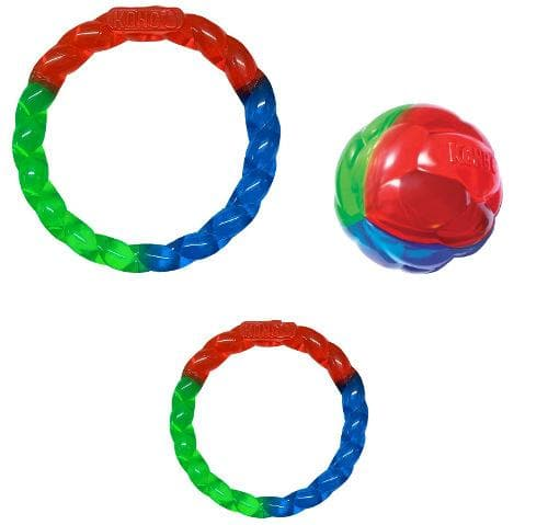 KONG Twistz Ring or Ball Rubber Dog Toy - The Pet Vault
