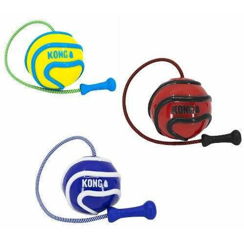 KONG Wavz Bunjiball Rope and Ball Dog Toy - Ball Throw Dog Toy - The Pet Vault