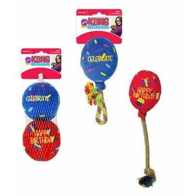 Kong Occasions Dog Birthday Presents Balloon and Ball Toys - The Pet vault