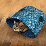 Kong PlaySpaces Haven Cat Furniture Cat Hideaway in use - The Pet Vault