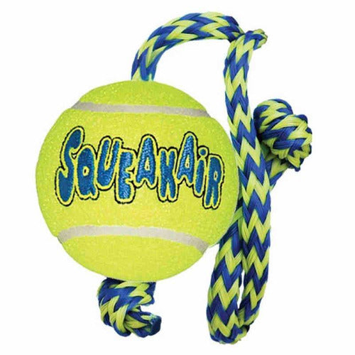 KONG AirDog SqueakAir Ball with Rope - The Pet Vault