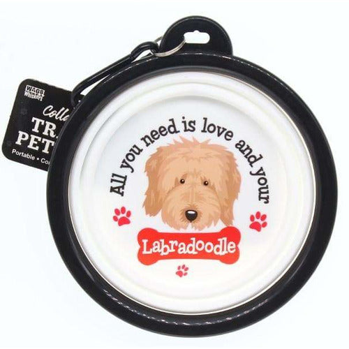 Labradoodle Collapsible Travel Dog Bowl Gift - The Pet Vault