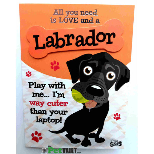 Black Labrador Gift Greeting Card - The Pet Vault