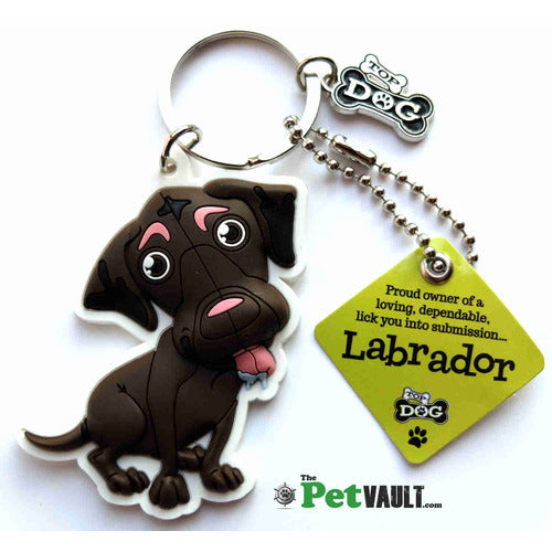 Chocolate Labrador Gift Keyring - The Pet Vault