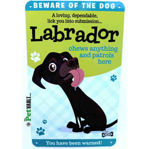 Chocolate Labrador Gift Sign - The Pet Vault