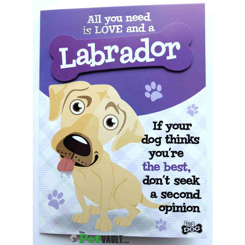 Golden Labrador Gift Greeting Card - The Pet Vault