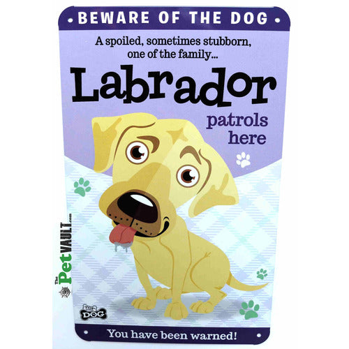 Golden Labrador Gift Sign - The Pet Vault