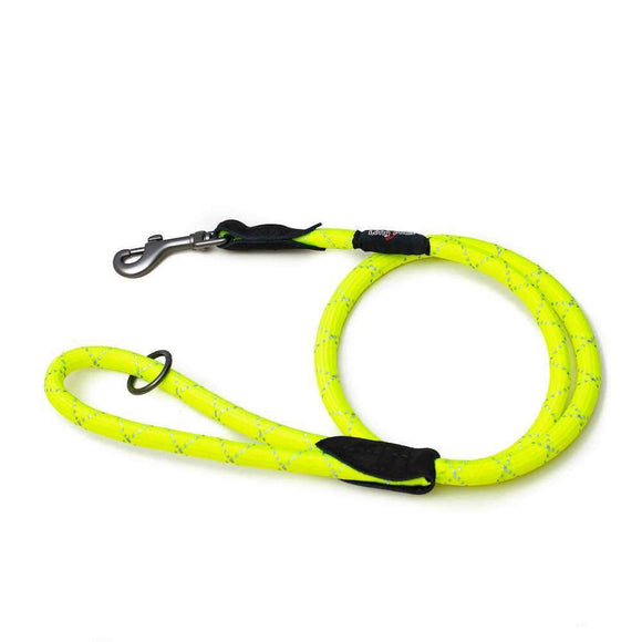 Long Paws - Urban Trek Neon Hi-Vis Reflective Dog Rope leash lead - The Pet Vault
