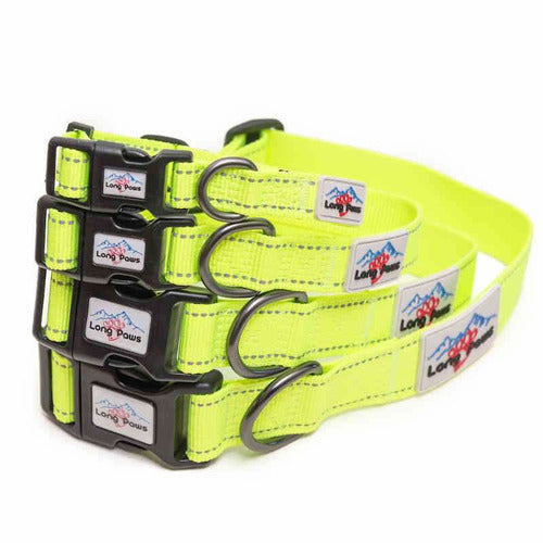 Long Paws - Urban Trek Neon Hi-Vis Reflective Dog Collars - The Pet Vault