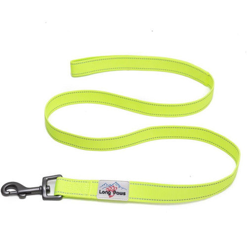 Long Paws Urban Trek Neon Hi-Vis Reflective Lead - The Pet Vault