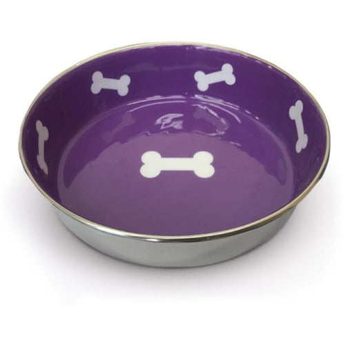 Loving Pets Robusto Violet Purple Dog Bowl - The Pet Vault