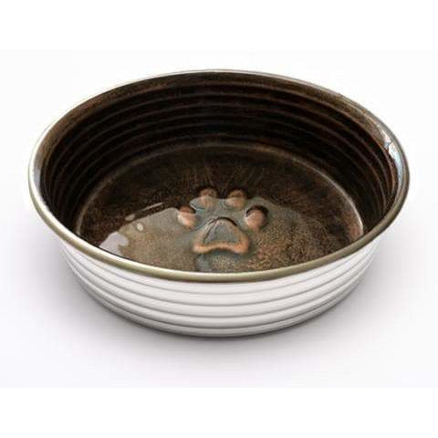 Loving Pets Le Bol Chocolat Bronze Dog Bowl - The Pet Vault