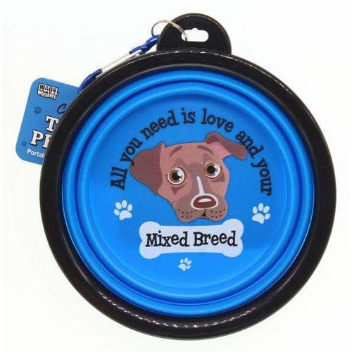Mixed Breed Collapsible Travel Dog Bowl Gift - The Pet Vault