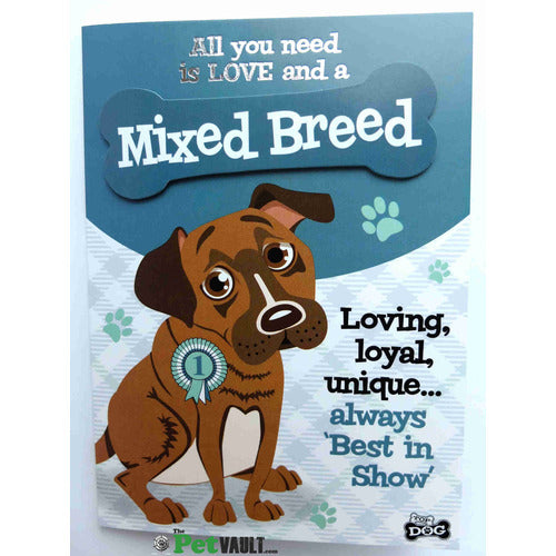 Mixed Breed Dog Gift Greeting Card - The Pet Vault