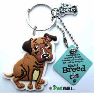 Mixed Breed Dog Gift Keyring - The Pet Vault