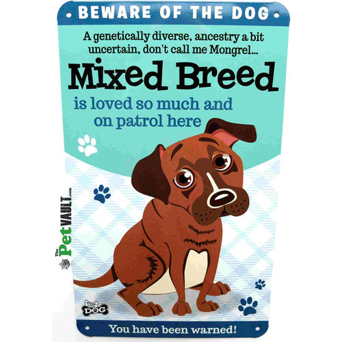 Mixed Breed Dog Gift Sign - The Pet Vault