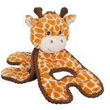 Petstages Cuddle Tug Giraffe Dog Toy open - The Pet Vault