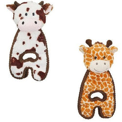 Petstages Cuddle Tug Giraffe and cow Dog Toys - The Pet Vault