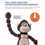 Petstages Thunda Tugga squeaky tough soft dog toy with long arms - The Pet Vault