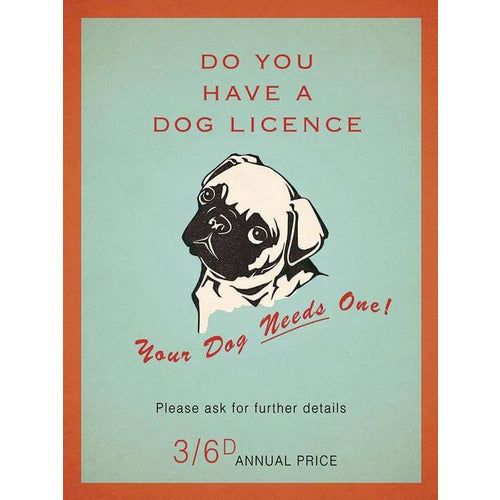 Pug Dog Licence Magnet Gift - The Pet Vault