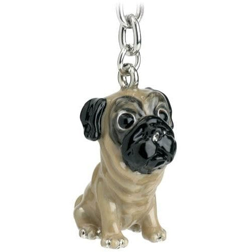 Pug Gift Figurine Keyring - The Pet Vault