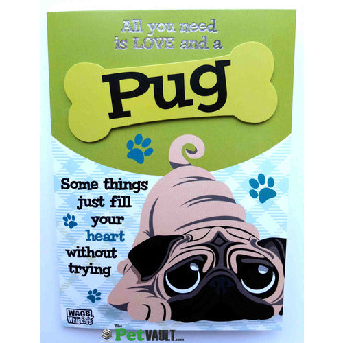 Pug Gift Greeting Card - The Pet Vault