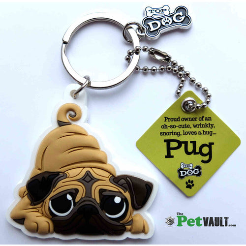 Pug Gift Keyring - The Pet Vault
