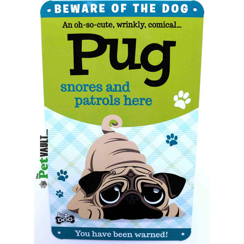 Pug Gift Sign - The Pet Vault