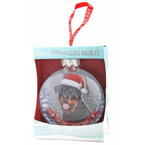 Rottweiler Gift Bauble for Christmas - The Pet Vault