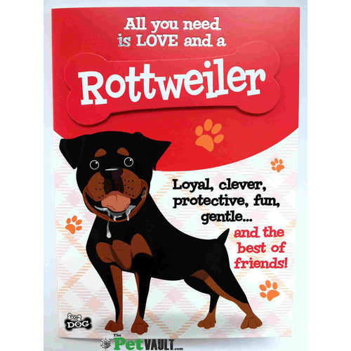 Rottweiler Gift Greeting Card - The Pet Vault