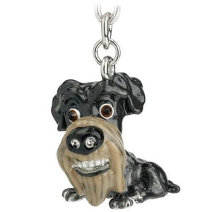 Schnauzer Gift Figurine Keyring and Charm - The Pet Vault