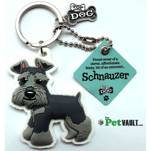 Schnauzer Gift Keyring - The Pet Vault