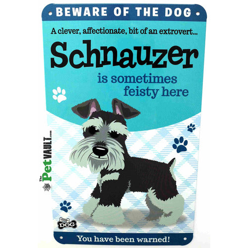 Schnauzer Gift Sign - The Pet Vault