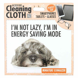 Schnauzer Gift Screen, Phone or Glasses cleaning microfibre cloth - The Pet Vault