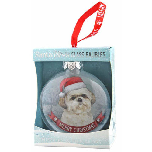Shih Tzu Gift Bauble for Christmas - The Pet Vault