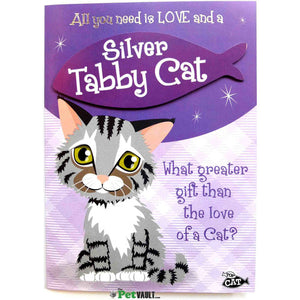 Silver Tabby Cat Gift Greeting Card - The Pet Vault