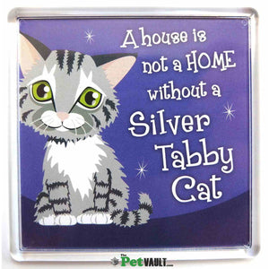 Silver Tabby Cat Gift Magnet - The Pet Vault