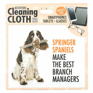 Springer Spaniel Gift Phone, Screen or Glasses clean microfibre cloth - The Pet vault