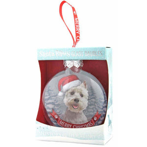 West Highland Terrier Gift Bauble for Christmas - The Pet Vault