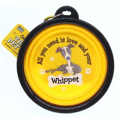 Whippet Collapsible Travel Dog Bowl Gift - The Pet Vault