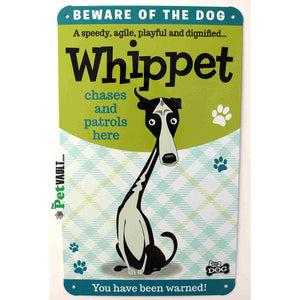 Whippet Gift Sign - The Pet Vault