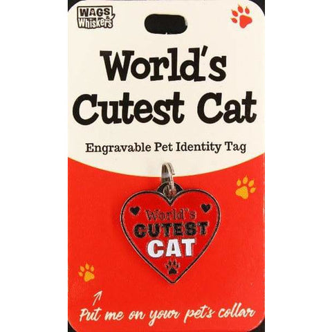 World's Cutest Cat ID Tag Gift Charm