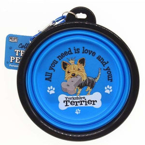 Yorkshire Terrier Collapsible Travel Dog Bowl Gift - The Pet Vault