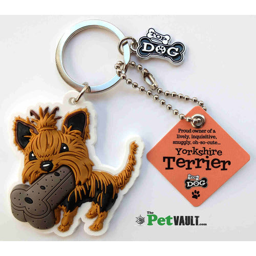 Yorkshire Terrier Gift Keyring - The Pet Vault