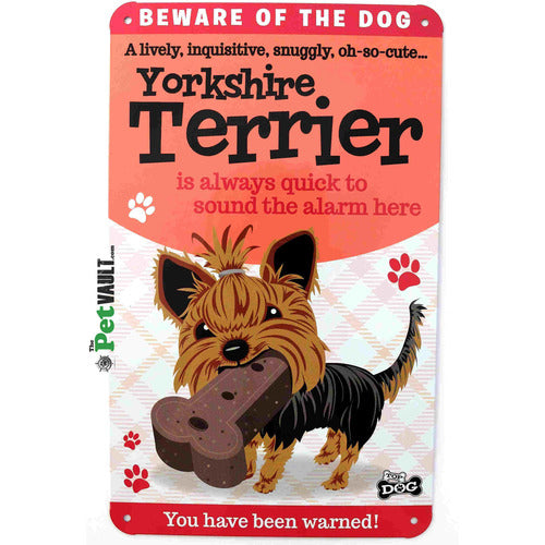 Yorkshire Terrier Gift Sign - The Pet Vault