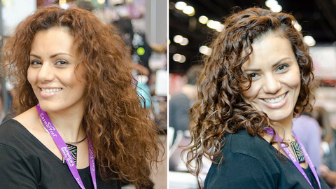 Before and After Controlled Chaos Curl Creme