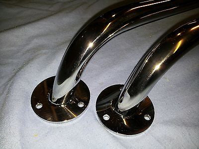 A pair of stainless steel grab ralis 450mm marine grade 316 boat hand rails