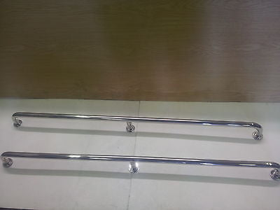 A pair of stainless grab rails 1000mm marine grade 316 boat hand rail 25mm tube - southern marine products