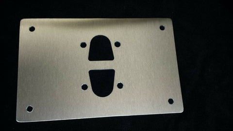 LARGE MOUNTING PLATE FOR EBERSPACHER WEBASTO DIESEL HEATER STAINLESS STEEL d2 - southern marine products